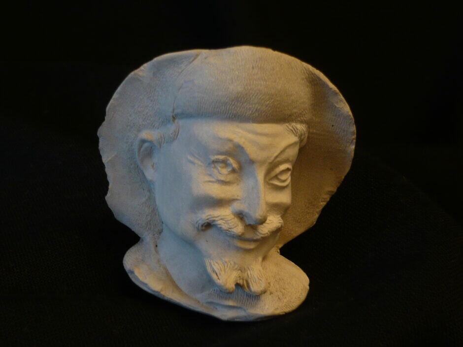 Antiker Tonpfeifenkopf