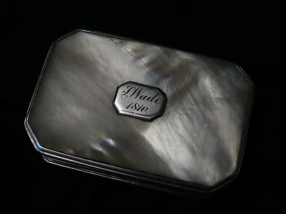 Antike Silberne Schnupftabakdose