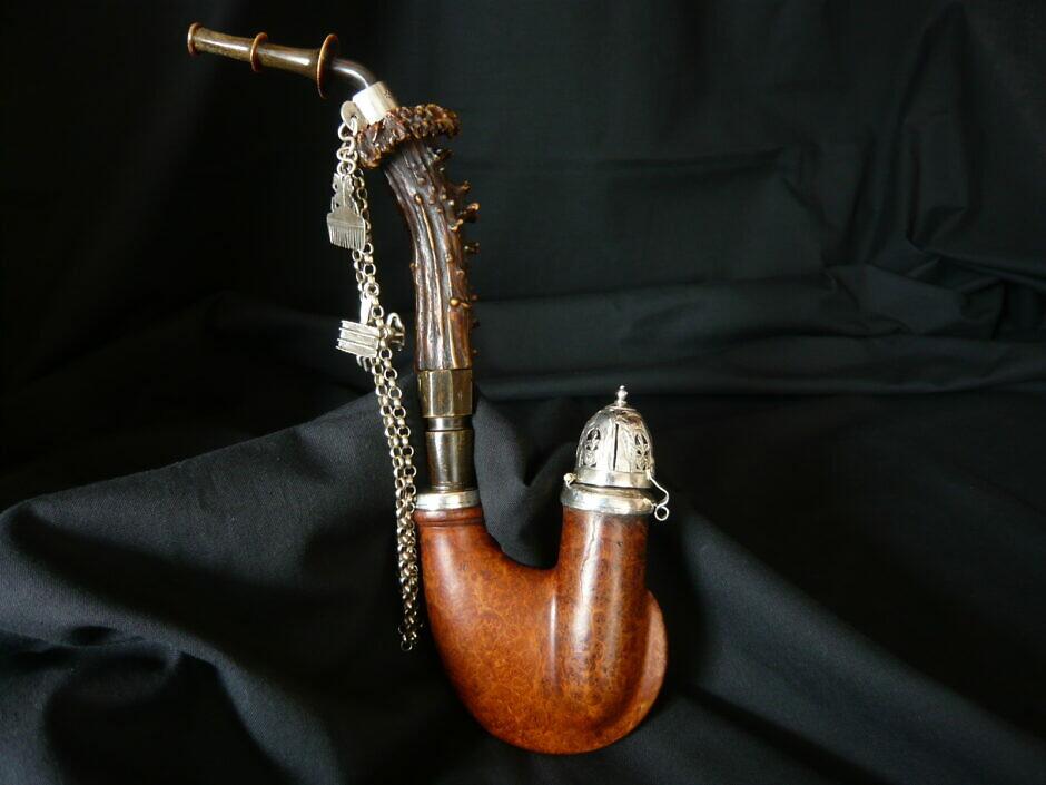 Antike Ulmer Maserholzpfeife