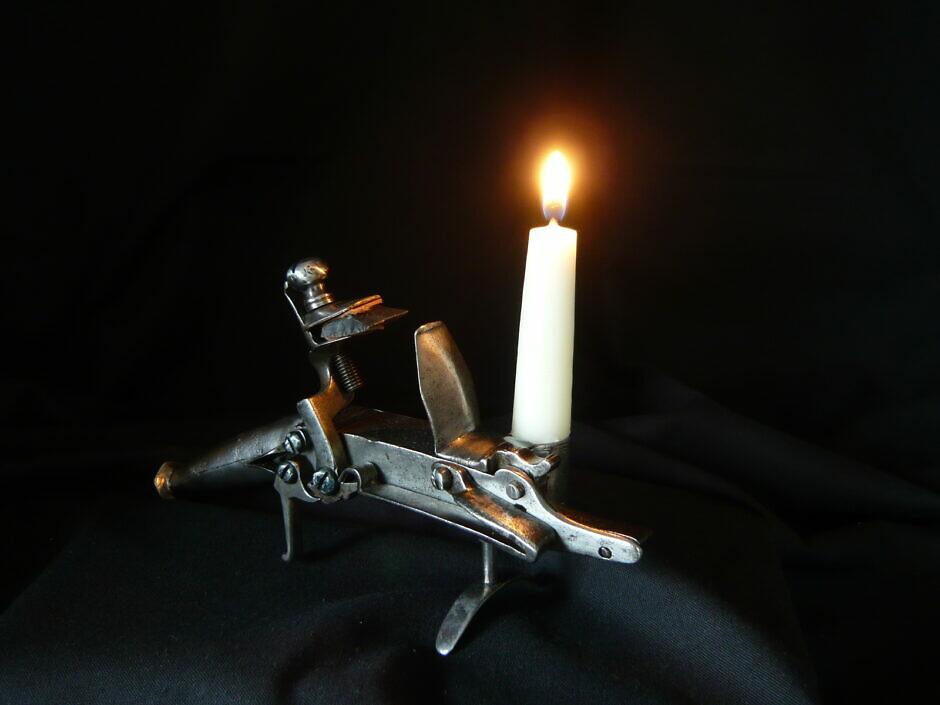 Antikes Barockes Steinschlossfeuerzeug